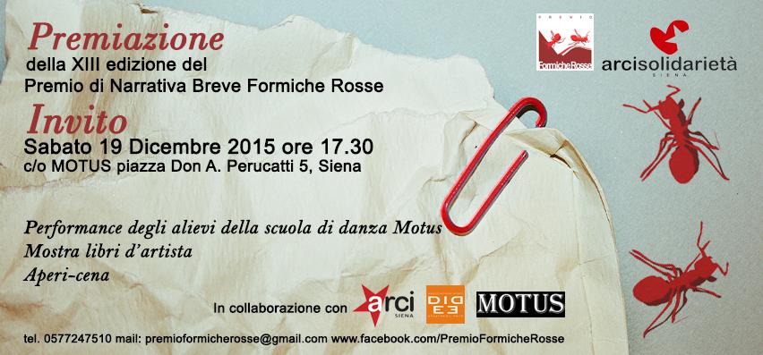 Invito Formiche Rosse 2015