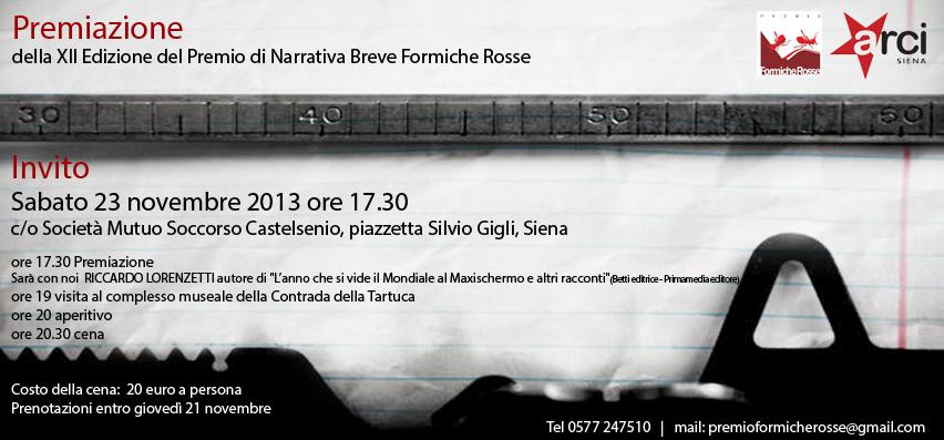 Invito Formiche Rosse 2013