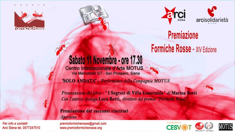 Invito Premiazione Formiche Rosse 2017 CORRETTO